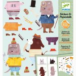Stickers & Paper dolls Cani  - Djeco